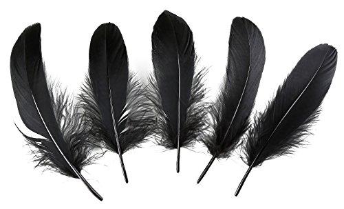 Pluma de ganso para decoración del hogar, 100 unidades, 15 - 20 cm, para centros de mesa de boda negro