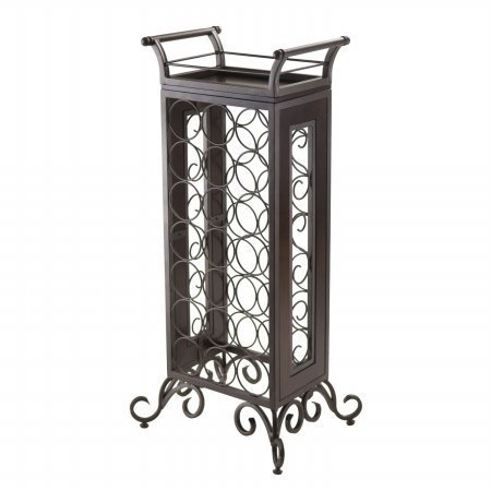 winsome-trading-87716-silvano-wine-rack-with-removable-tray-dark-bronze-by-winsome