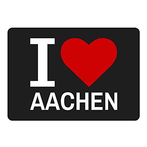 Alfombrilla de ratón Classic I Love Aachen negro