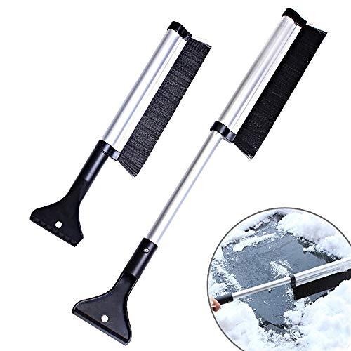 Preisvergleich Produktbild Luxury-uk Einfache Dekoration 65cm Teleskop Schneebesen Versenkbare Schneebürste und Eiskratzer Garten Eiskratzer für Auto
