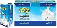 Rayan UHT Milk Plain Full Cream , Full Fat - 12X1 L