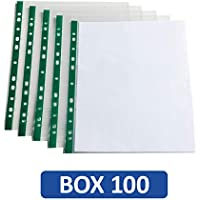 Oxford A4 Strong Punched Pockets, Box of 100