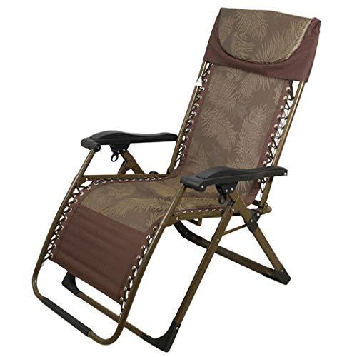 Fauteuil de terrasse de repos extérieur pour chaises de patio inclinable pliant réglable en textile résistant aux intempéries pour la piscine de véranda (Couleur : A)