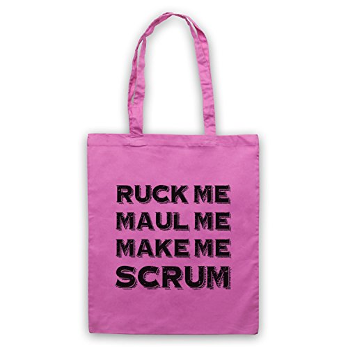 Ruck Me Maul Me Make Me Scrum Funny Rugby Slogan Umhangetaschen Rosa