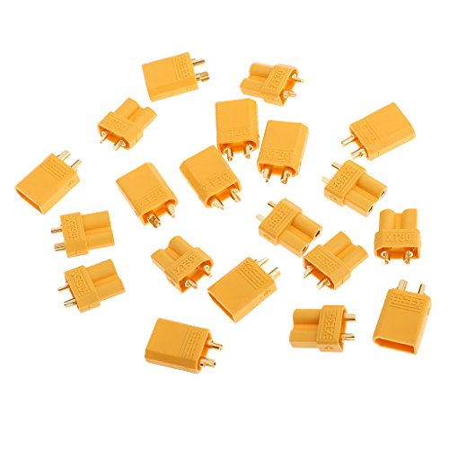 Dolity XT30 Male Female Socket Connector Socket for Battery Charger ESC (10 Pair)