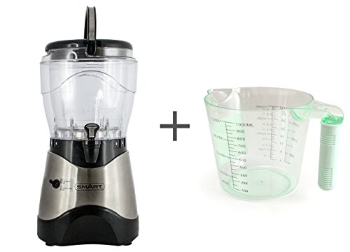 Smart Margarator Pro Margarita und Slush-Maschine Bundle mit gratis Messbecher, ideal für Eis-Slushie-Tränke, natürliche gefrorene Fruchtgetränke und Cocktails – Edelstahl HSB590