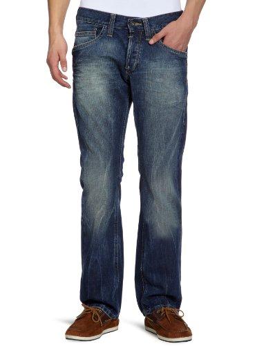 MUSTANG Jeans Herren Jeans Niedriger Bund 3116-5137 Blau (dirty vintage wash 034)