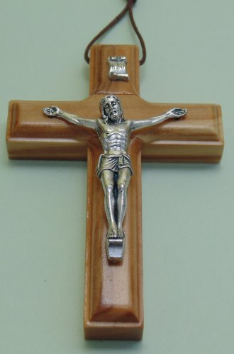 Kleines Wandkreuz, Kruzifix aus Olivenholz - Kreuzanhänger