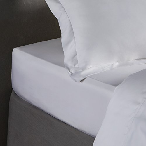 100% Bamboo Bed Linen – Luxury Duvet Cover Set – Double – Duvet Cover, Fitted Sheet, Pillowcases (Pure White)
