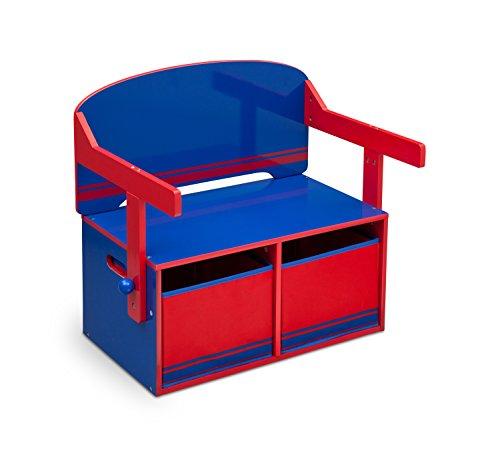 Delta Children 3 En 1 - Banco almacenamiento escritorio
