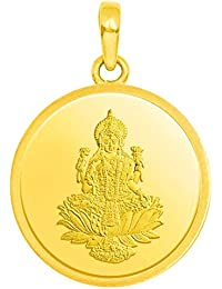 Candere by Kalyan Jewellers 24k (999) Yellow Gold Lakshmi gold coin pendant Pendant for Women