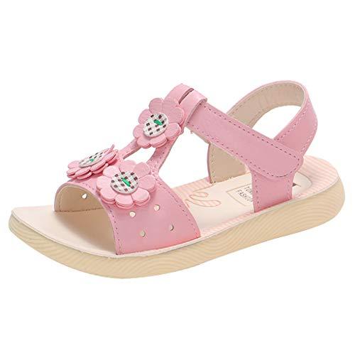 SuperSU Mädchen Sandalen►▷Sommer Blume Design Weich Bequeme Peep Toe Sandalen Hausschuhe,Mädchen Beiläufige Anti Rutsch Prinzessin Schuhe |Tanzschuhe |Freizeitschuhe |Strandschuhe