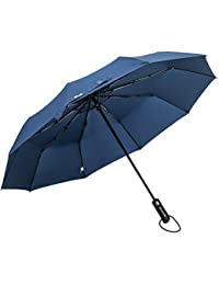 ZOMAKE Paraguas Plegable - Teflón 210t, Paraguas Automático con 10 Marcos Reforzados, Ideal para