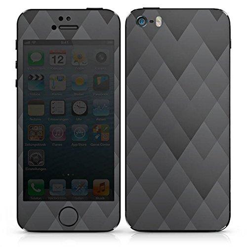 Apple iPhone 3Gs Case Skin Sticker aus Vinyl-Folie Aufkleber Anthrazit Modern Muster DesignSkins® glänzend