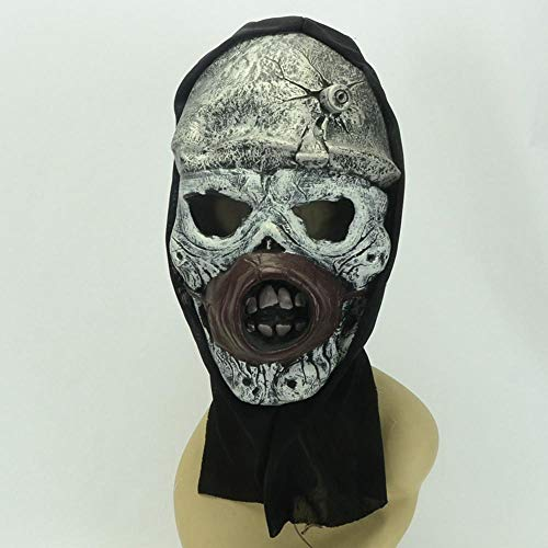Littlefairy Halloween mask,Carnival Party Color Alien Monster Black Cloth Set Latex mask