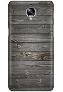 Case U Xiaomi Redmi Note 3 Case/Back Cover + Free Tempered Glass (Grey Textured Wood)