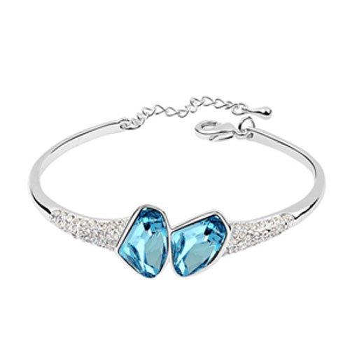 rarelove-swarovski-elements-aquamarine-crystal-18k-gold-plated-double-round-bangle-bracelet