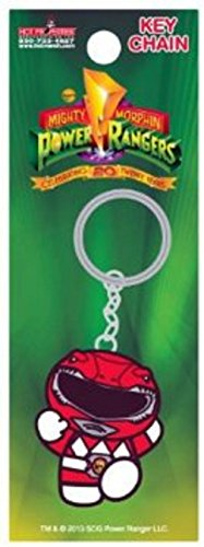 Image of HP Power Ranger TV Show Red Ranger Metal Key Chain