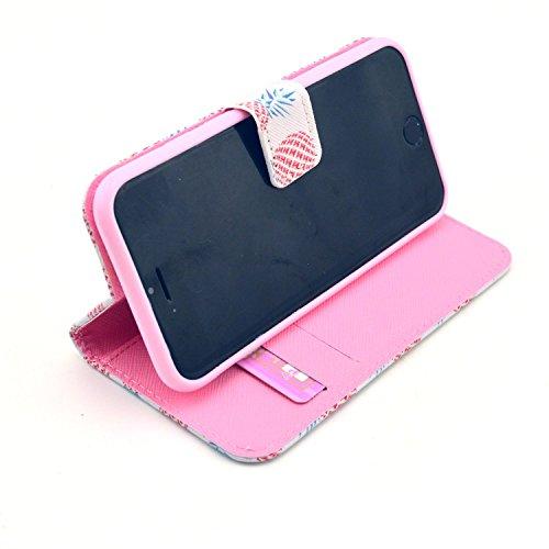 """MOONCASE iPhone 6 Plus Case Motif Conception Coque en Cuir Portefeuille Housse de Protection Étui à rabat Case pour iPhone 6 Plus (5.5"""") P01"""