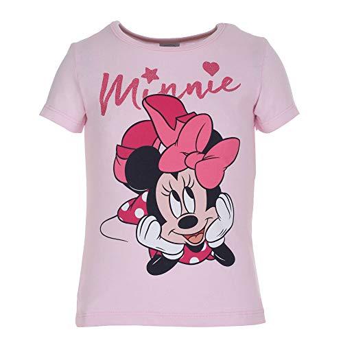 Disney Mädchen Minnie Mouse T-Shirt, rosa, Größe 98, 3 Jahre Disney Mädchen Minnie Mouse