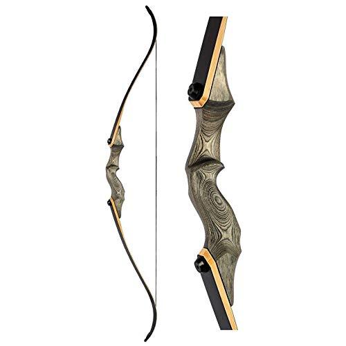 "Black Bow Hunter Recurve Bogen 58\"", 25-40lbs, LH & RH, inkl. Zubehör, schussfertig (RH, 30lbs)"