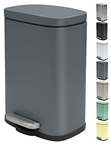 Spirella Kosmetikeimer 5 Liter Edelstahl mit Absenkautomatik und Inneneimer Akira Badezimmer...