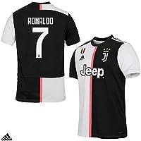 JUVENTUS Maglia Ronaldo CR7 Gara Home Ufficiale Stagione 2019/2020-100% Prodotto Ufficiale - 100% Originale - Bambino - Patch Scudetto Sempre Inclusa - Taglia 164 cm 13/14 Anni