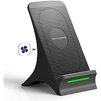 Fast Wireless Charger, NOVETE Qi Induktive Ladestation mit Lüfter 10W für Samsung Galaxy S10/S10+/S10e//Note 9/S9/S9+/S8/S8+/Note 8/S7/S7 Edge/S6 Edge, 7.5W für iPhone 8/8 Plus/iPhone X/XS/XS MAX/XR