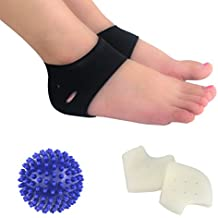 HLYOON H07 Umfassende fünfteilige Stücke,-Ausstattung für chronischen Fersenschmerz – Fersenschmerzsocke, Massageball, Senkfußeinlage, Fußmassagegerät, Fersenpolster, Knöchelorthese