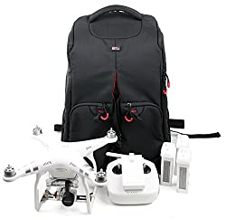 Duragadget Protective Drone Backpack For Dji Quadcopter Phantom 4 Pro Obsidian, 4, 3 (4k Advanced Professional Standard), 2 Vision & 1 With All Your Accessories!