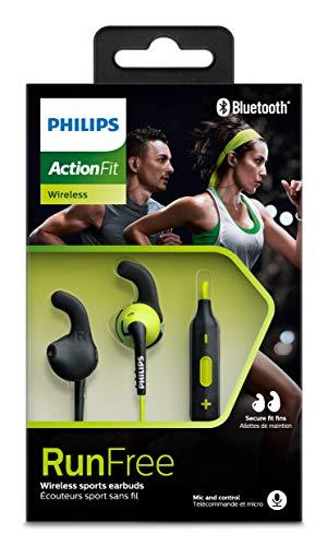 Philips SHQ6500CL/00 ActionFit Ohrstöpsel Bluetooth Sportkopfhörer mit kabelloser Musik/Anrufe grün/schwarz - 5