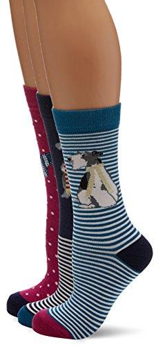Joules Women's Brilliant Bamboo Set Socks, 100 Den