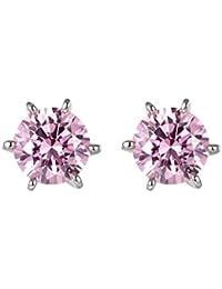 Pendientes de cristal Rosa de Swarovski Elements Zirconia - CRY E340 J Rose - Blue Pearls