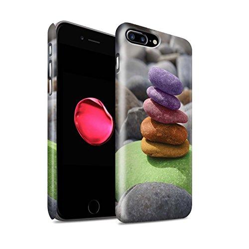STUFF4 Matte Snap-On Hülle / Case für Apple iPhone 8 Plus / Stein Buddha Muster / Innerer Frieden Kollektion Auswuchten Steine