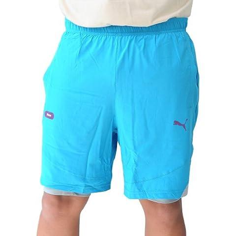 Puma Faas Cross–2in1Running Pantalones Cortos S Vivid azul grey-quarry, hombre, color Azul - azul, tamaño small