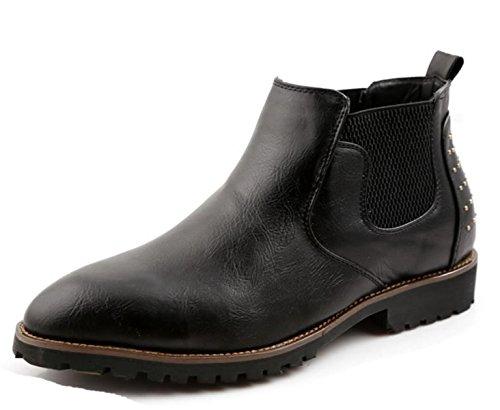 Stivali Da Uomo Scarpe Casual In Pelle Sintetica PU Arrampicata Sportiva Antiscivolo Comfort Black