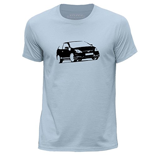 stuff4-herren-mittel-m-himmelblau-rundhals-t-shirt-schablone-auto-kunst-civic-ep3