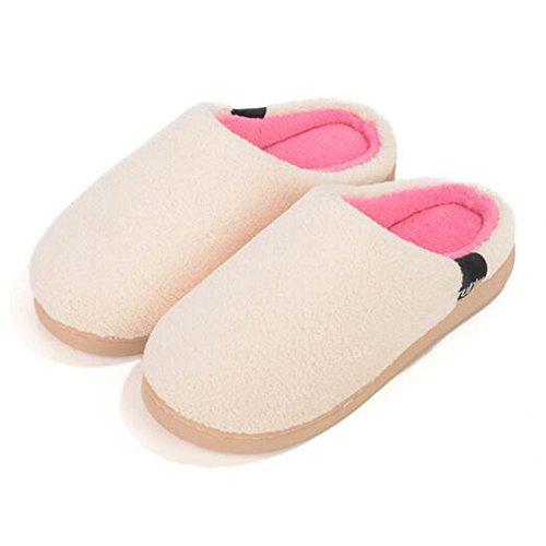 Bege Fleece Fechados Homens Sapatos Coral Chinelo Mulheres Inverno q0wxvPA8