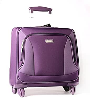 Purple Colour Instyle 4 Swivel Wheels Spinner Laptop Trolley Bag/ Cabin Luggage Case