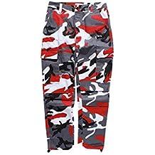 Juleya Unisex Casual Multi Pocket Pant Camouflage Streetwear Camo Cargo  Pants Uomo Donna Baggy Tactical Hip cb9c4a1c18b2