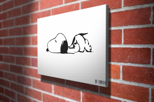 Snoopy the Dog Animation Gallery Framed Canvas Art Picture Print
