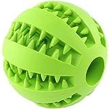 wangstar Pelota de juguete perro, mordedura tóxica resistentes pelotas de goma para no juguete, Chew Diente Formación bola de limpieza (verde)
