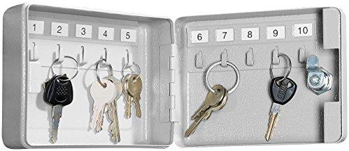 Xcase Schlüsselbox: Mini-Stahl-Schlüsselschrank für 10 Schlüssel, mit Sicherheitsschloss (Schlüsselkästen)
