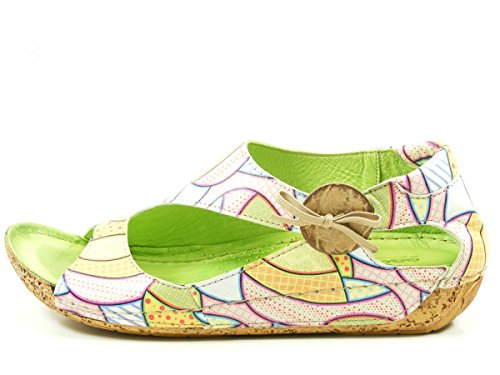 Gemini 32029-29 Schuhe Damen Keil Sandalen Sandaletten Grün