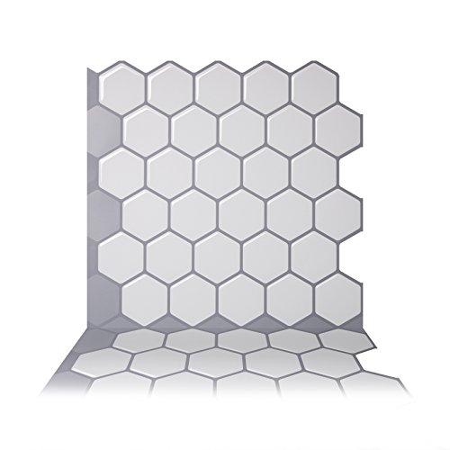 Tic Tac Fliesen anti-mold Abziehen und Aufkleben Wand Fliesen in Hexa Mono weiß