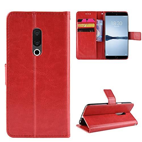 Custodia® Flip Brieftasche Hülle für Meizu 15 Plus(Muster 2)