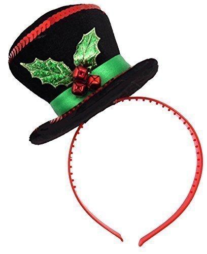 Santa Schneemann Weihnachtsbaum Mini Zylinder Haarband Stirnband Neuheit Geheim Santa Geschenk Kostüm Kleid Outfit Zubehör - Schneemann, One Size (Neuheit Stirnbänder)