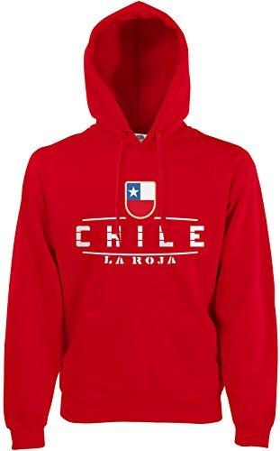 Akytex Chile Fan Hoodie Kapuzenpullover WM2018 Rot L