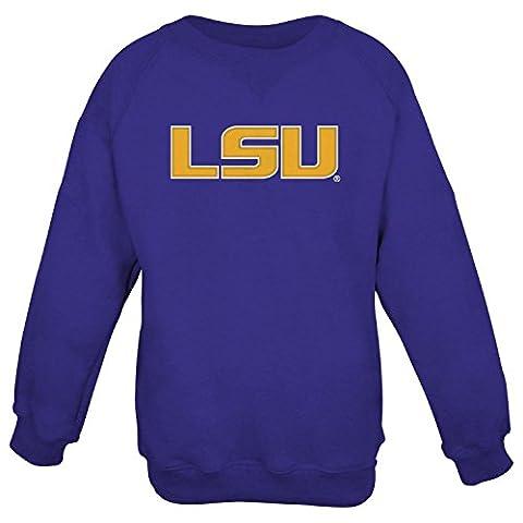 LSU Tigers NCAA Embroidered Crew Men's SweatShirt Chemise - Purple