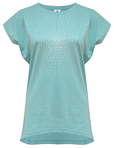 Yogistar Yoga-t-Shirt Batwing Sunray - Mint/Silver M